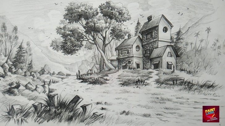 Amazing Beautiful Pencil Shading Drawings Tutorial Pencil Shading Scenery And Pencil Shading Scenery How To Draw And Photos