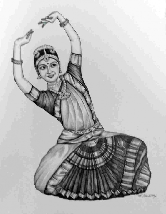 Amazing Bharatanatyam Pencil Sketches Easy Performer Desipainterscomrhdesipainterscom Sketches Pinterest And Image