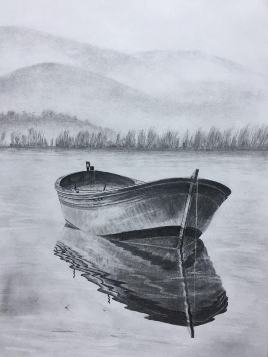Boat Pencil Sketch