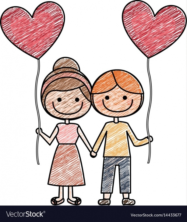 Amazing Boy And Girl Pencil Drawing Free Color Pencil Drawing Of Caricature Of Boy And Girl Pictures