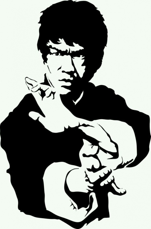 Amazing Bruce Lee Stencil Techniques for Beginners Bruce Lee | Sketch In 2019 | Bruce Lee Art, Bruce Lee, Bruce Lee Pic