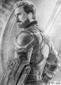 Amazing Captain America Pencil Drawing Techniques for Beginners Chris Evans As Captain America Pencil Sketch Ig Photo