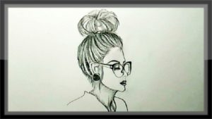 Amazing Cute Girl Pencil Sketch Tutorial Art Tutorials: Pencil Drawing A Cute Girl Step By Step Easy Picture