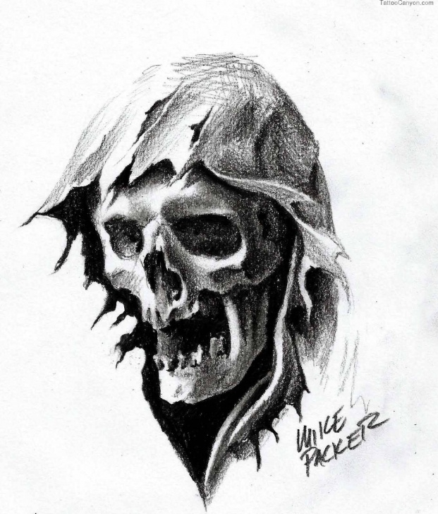 Amazing Demon Pencil Drawing Techniques for Beginners Pencil Sketch Demon Face And Grim Reaper Tattoos ~ Nice Pencil Images