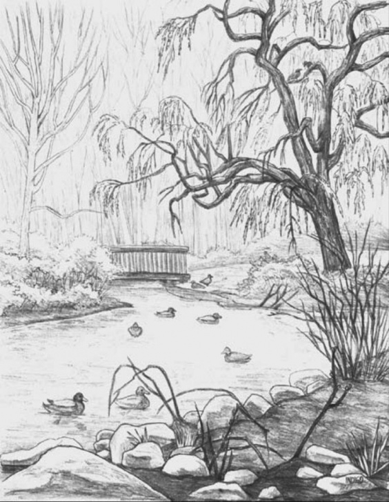 Amazing Easy Landscape Drawing For Beginners Tutorials Easy Landscape Drawings Landscape Sketching For Beginners Lt Images Pics