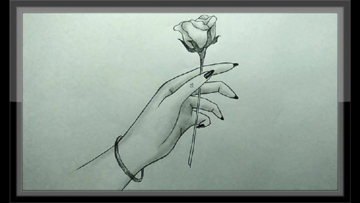 Amazing Easy Pencil Art Tutorials Cool Easy Pencil Drawing - How To Draw A Rose Flower Photo