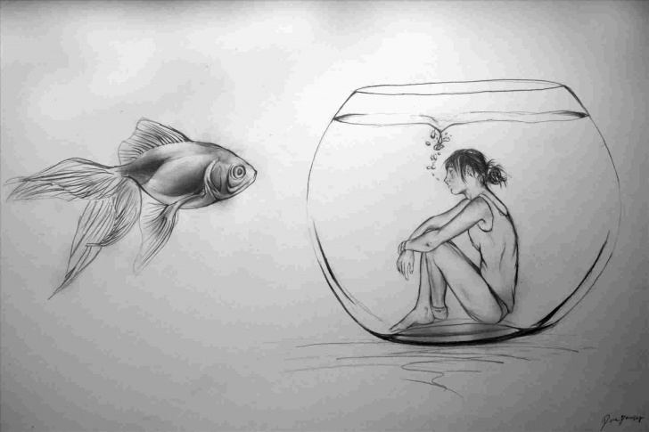 Amazing Emotional Pencil Drawings Lessons Emotional Pencil Sketches | Drawing Work Image