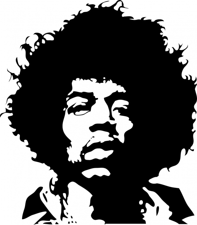 Amazing Famous Stencil Art Tutorial Pin By Michael Rosteck On Notan | Stencil Art, Face Stencils, Jimi Photos