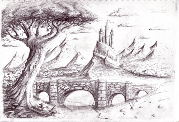 Amazing Fantasy Pencil Drawings Easy Fantasy Landscape Drawing And Fantasy Landscape Drawings Fantasy Picture