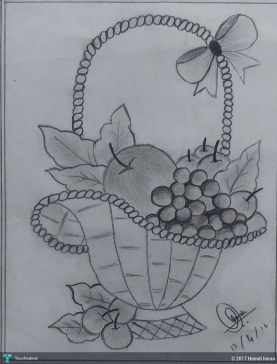 Amazing Fruit Basket Pencil Drawing Step by Step Fruit Basket Sketch At Paintingvalley | Explore Collection Of Images