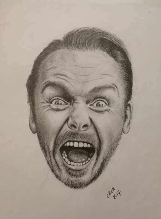 Amazing Funny Pencil Drawings Simple Funny Man - Original Pencil Drawing Drawing By Mateja Marinko Images