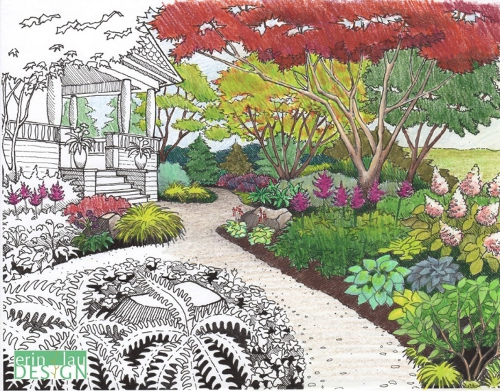Amazing Garden Pencil Drawing Techniques for Beginners Garden Drawing, Pencil, Sketch, Colorful, Realistic Art Images Photo