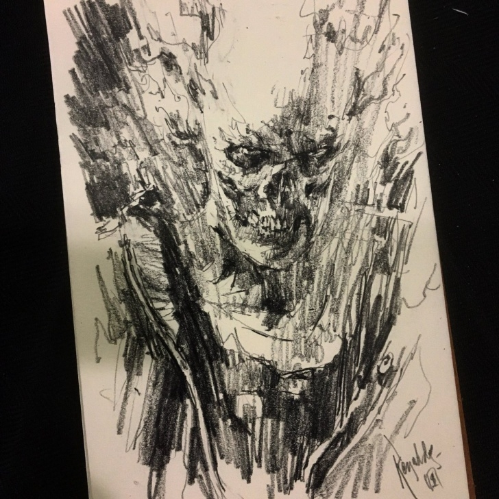 "Amazing Ghost Rider Pencil Sketch Step by Step Patric Reynolds On Twitter: ""'ghost Rider' Pencil Sketch From Msp Pics"