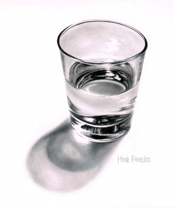 Amazing Glass Pencil Drawing Courses Water Glass Sketch At Paintingvalley | Explore Collection Of Pics