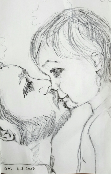 "Amazing Good Pencil Drawings Simple Pencil Drawing By Dorit Kenyagin #21 Pure Love. ""100 - Good Morning Image"