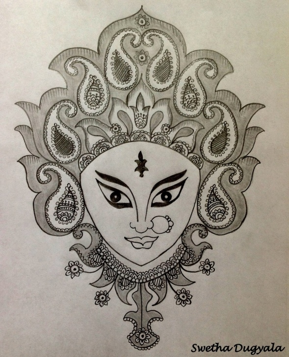 Amazing Hanuman Pencil Sketch Ideas Hanuman Pencil Sketch Images And Swetha Arts : Goddess Durga Pencil Images