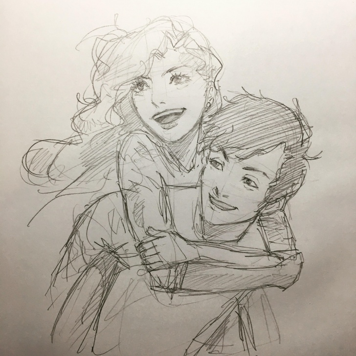 Happy Couple Sketch