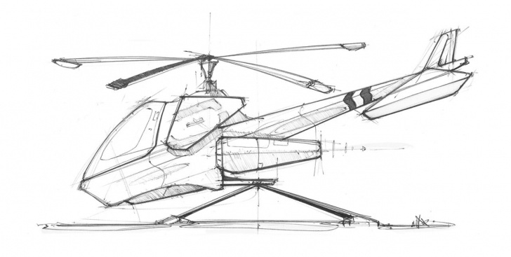 Amazing Helicopter Pencil Drawing Ideas Sketches We Like / Pencil / Hand Sketch / Helicopter / Linedraw / At Image