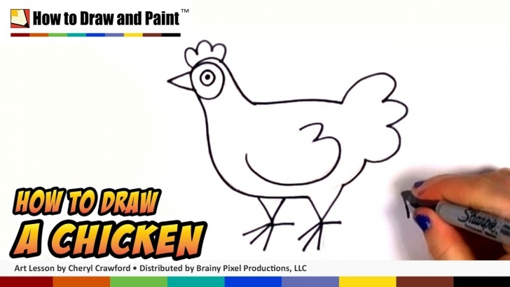 Amazing Hen Pencil Drawing Tutorial How To Draw A Chicken Step By Step - Art For Kids - Draw A Cute Hen Easy Cc Photo