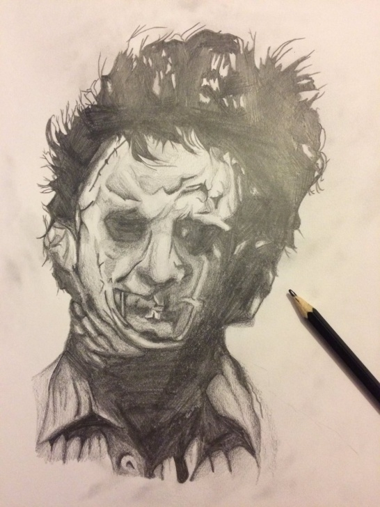 "Amazing Horror Pencil Sketches for Beginners Samantha Griffiths On Twitter: ""leatherface Pencil Sketch! #sketch Pictures"