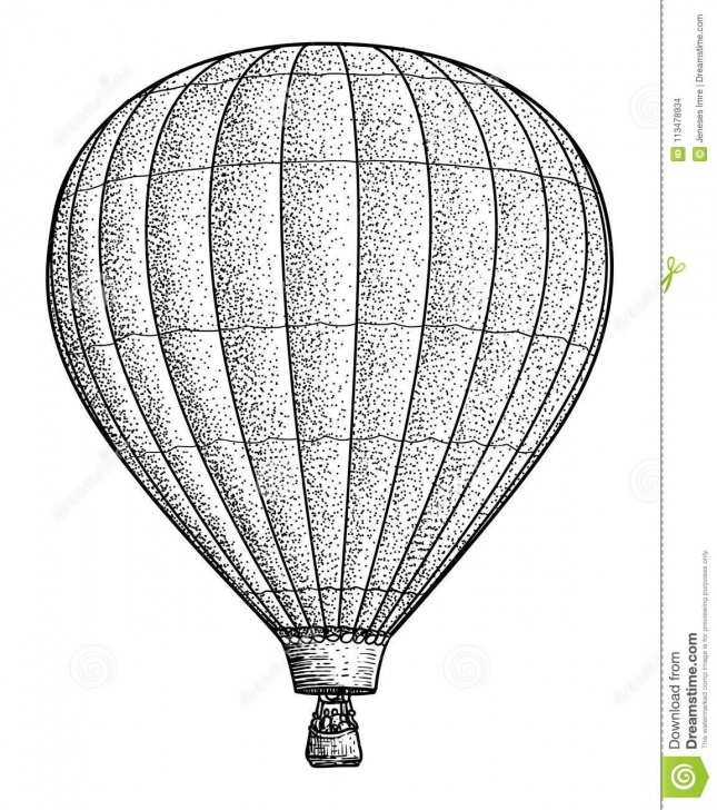 Amazing Hot Air Balloon Pencil Drawing Courses Hot Air Balloon Illustration, Drawing, Engraving, Ink, Line Art Photo