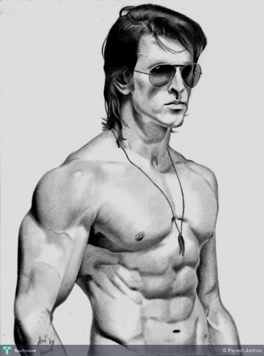 Amazing Hrithik Roshan Pencil Sketch Courses Hrithik Roshan Krrish 3 Pencil Sketch | Touchtalent - For Everything Images