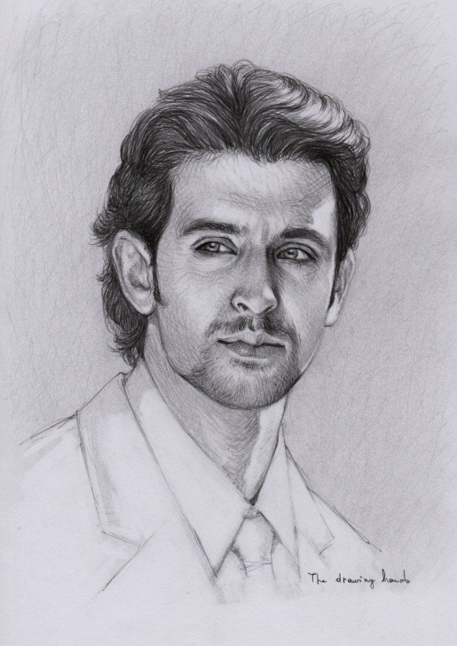 Amazing Hrithik Roshan Pencil Sketch Free Hrithik Roshan By Thedrawinghands On Deviantart ~ Pencil Portrait Pics