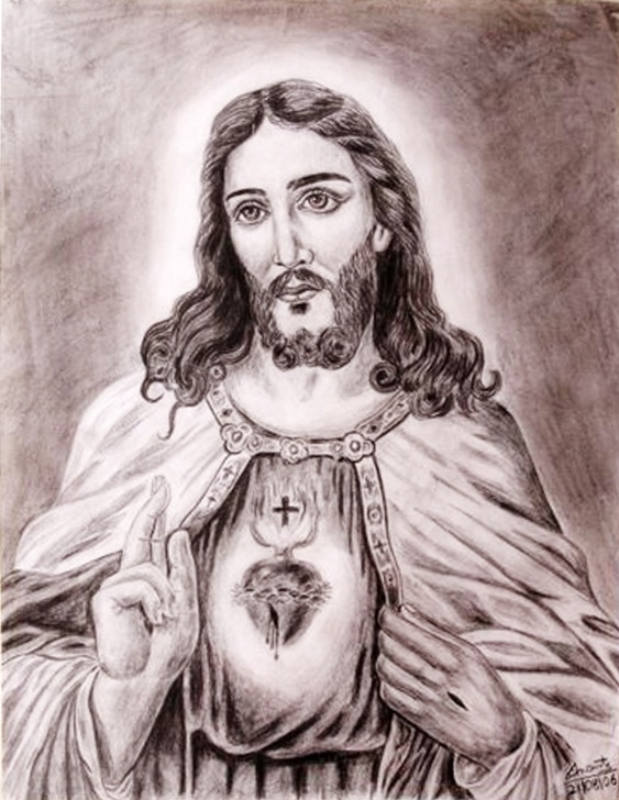 Amazing Jesus Pencil Sketch Courses Sketch Of Christ At Paintingvalley | Explore Collection Of Pic