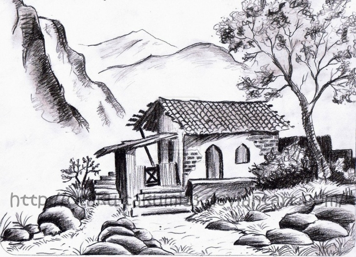 Amazing Landscape Pencil Sketch Tutorials Landscape Drawings In Pencil |  Landscapes Scenery 2011 2015 Pics