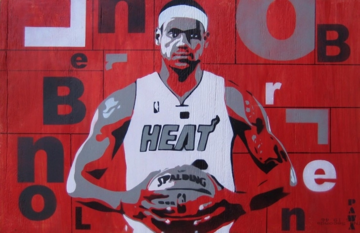 Amazing Lebron James Stencil Art Simple Stencil Art By Pawa: Lebron James Stencil On Recycled Wood Picture