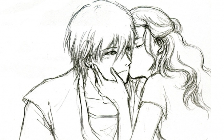 Amazing Love Art Sketch Easy Cute Love Drawings For Him | Romantic & Sad Couple Wallpapers Pics