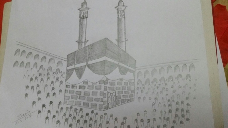 Amazing Makka Madina Drawing Ideas Pencil Sketching Of Holy Kaaba Made By Me Jummah Mubarak Have A Photo