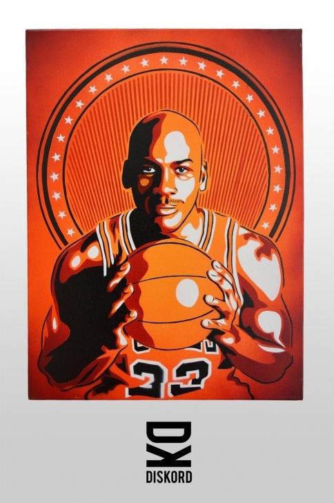 Michael Jordan Stencil Art