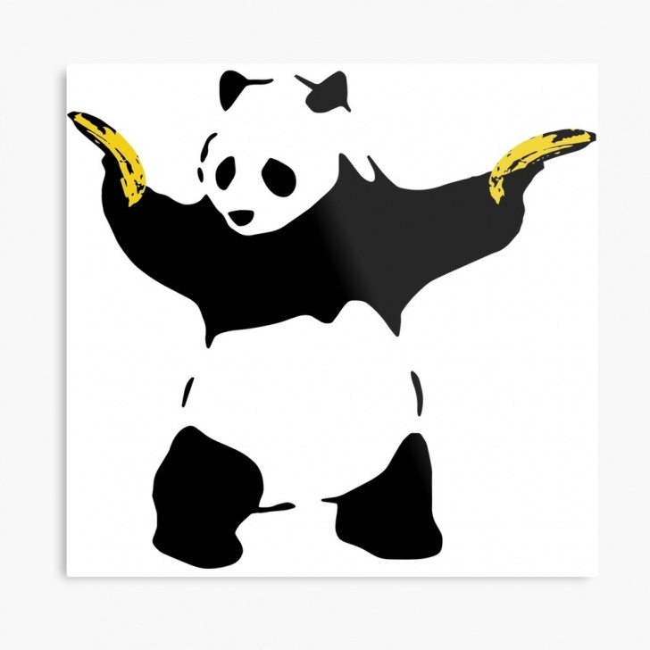 Amazing Panda Stencil Art Easy Bad Panda Stencil | Metal Print Images