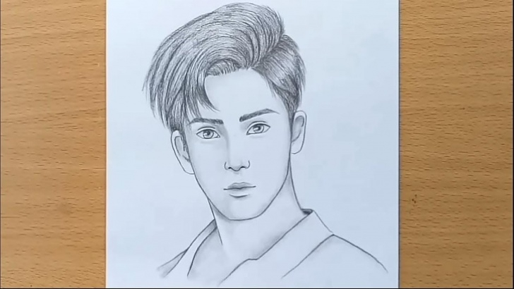Amazing Pencil Drawing Boy Lessons Boy Face Pencil Sketch / How To Draw A Boy Step By Step Image