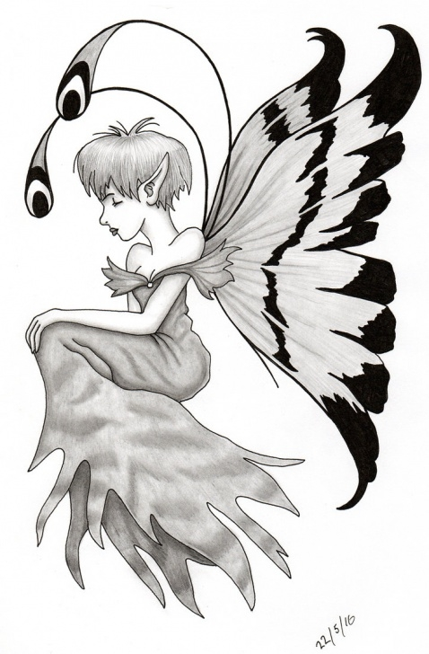 Amazing Pencil Drawing Fairies Lessons Fairy-001 Pencil Sketch Pen And Ink By Ally-Man On Deviantart Image