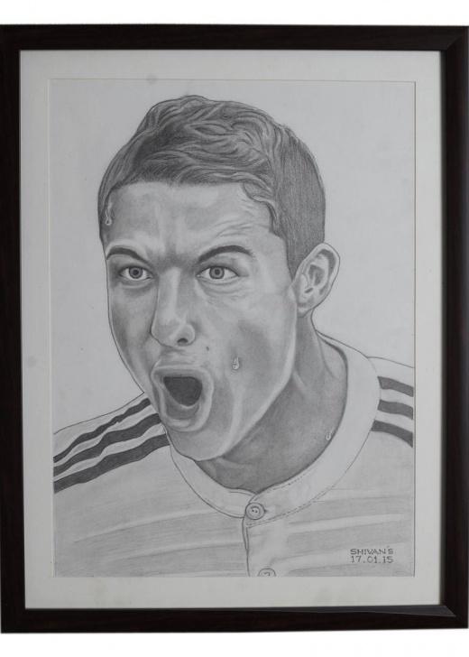 Amazing Pencil Drawing Of Cristiano Ronaldo Techniques Pencil Portrait Of The Professional Footballer Cristiano Ronaldo Photos