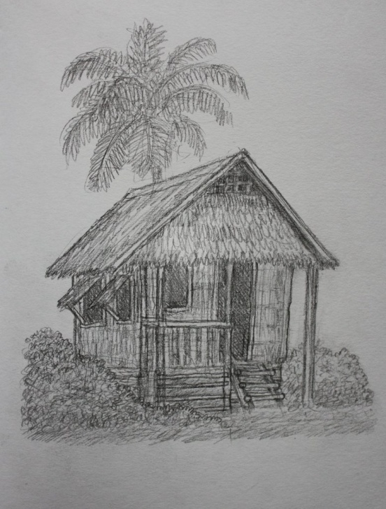Amazing Pencil Drawing Of Hut Easy Nipa Hut Sketch At Paintingvalley | Explore Collection Of Nipa Pic