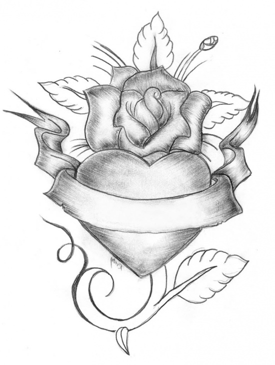 Amazing Pencil Drawings Of Roses And Hearts Techniques for Beginners Hearts And Roses Sketch At Paintingvalley | Explore Collection Pictures