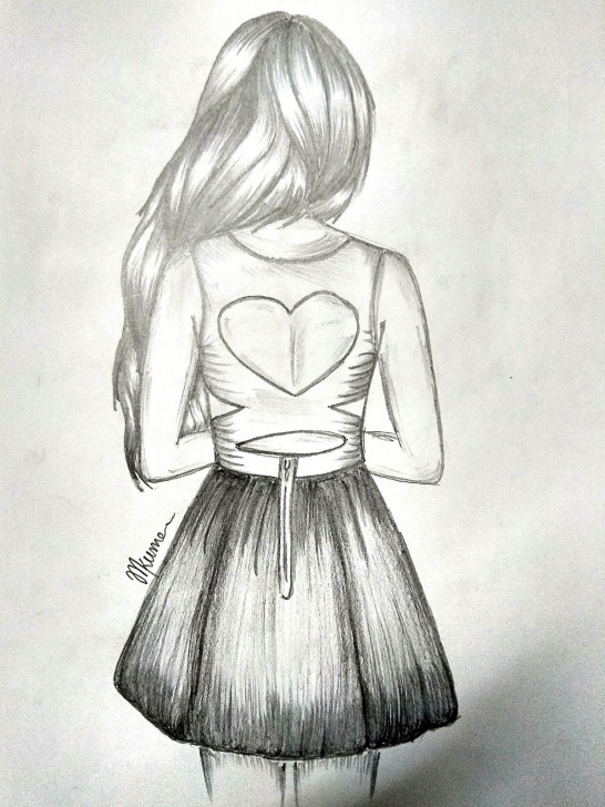 Pencil Girl Drawing
