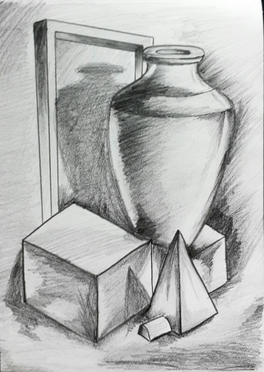 Amazing Pencil Shading Objects Lessons Thanush.kr: Object; Drawing 3D Pencil Shading Picture