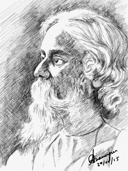 Amazing Pencil Sketch Of Rabindranath Tagore Free Rabindranath Tagore Sketch At Paintingvalley | Explore Photo