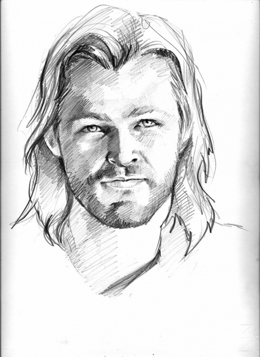 Amazing Pencil Sketch Of Thor Ideas Thor Drawing, Pencil, Sketch, Colorful, Realistic Art Images Pics