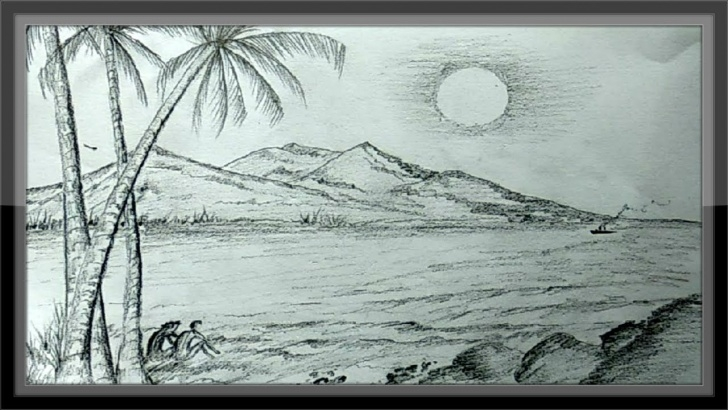 Amazing Pencil Sketches Of Nature Scenery Simple Pencil Drawings Landscape Romantic Nature Scenery ➤Easy Pics