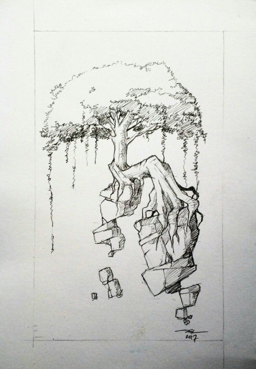 Amazing Quick Pencil Sketches Ideas Quick Pencil Sketch Of Tree #adywicaksono | Sketch And Ink Drawing Pics