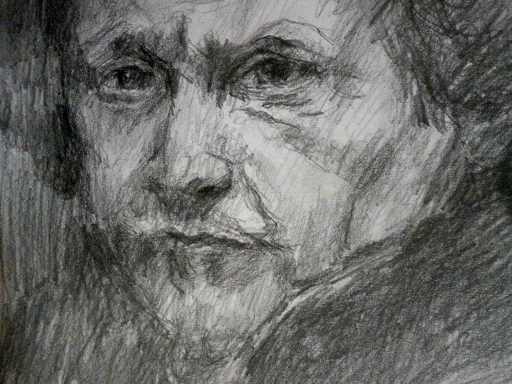 Amazing Rembrandt Pencil Drawings Tutorial Rembrandt Pencil Sketch Study | Drawn By The Masters | Drawings Pics