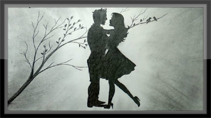Amazing Romantic Pencil Sketch for Beginners Pencil Drawing Romantic Scenery The Love Draw Step By Step Pics