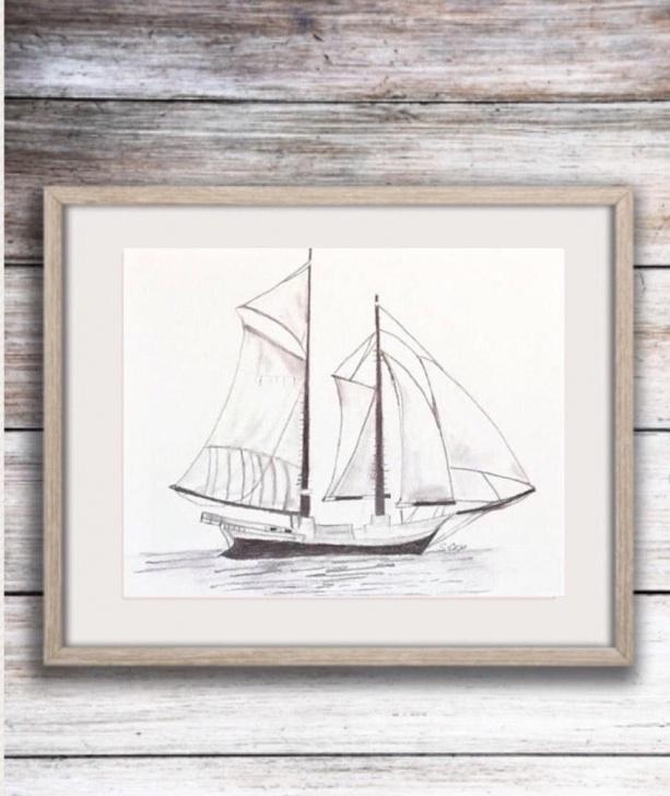 Amazing Sailboat Pencil Drawing Lessons Sailboat Drawing, Nautical Pencil Sketch, Boat Print, Original Art Sketch,  Boat Illustration, Black And White Print, Graphite Drawing Pics