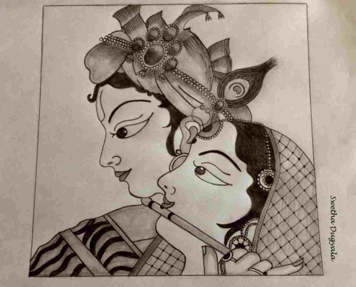 Amazing Serial Radha Krishna Pencil Sketch Free Radha Krishna Drawing At Paintingvalley | Explore Collection Of Images