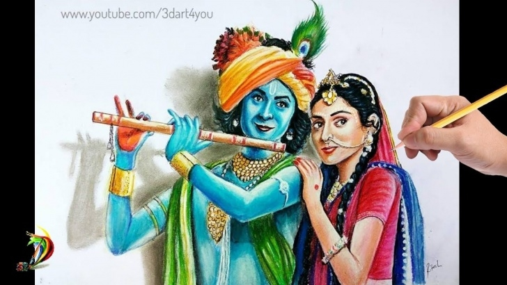Amazing Serial Radha Krishna Pencil Sketch Lessons Beautiful Radha Krishna Drawing | Drawing Sumedh Mudgalkar | Drawing Photo